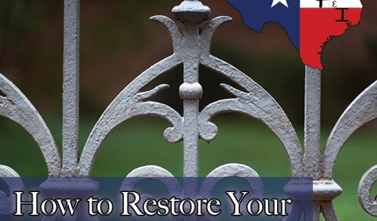 How to Restore Your Wrought Iron Fence