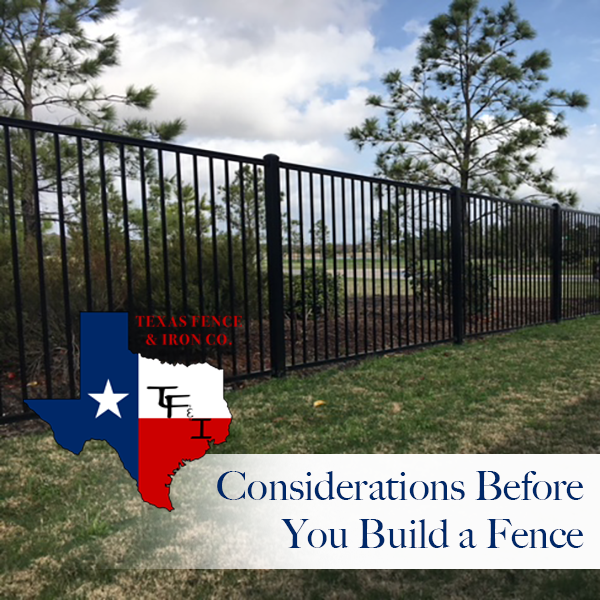 Considerations Before You Build a Fence