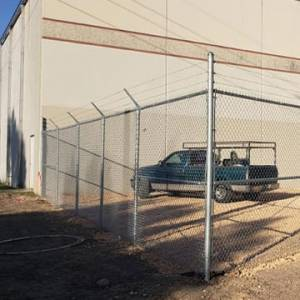 Chain link fence at commerical business property